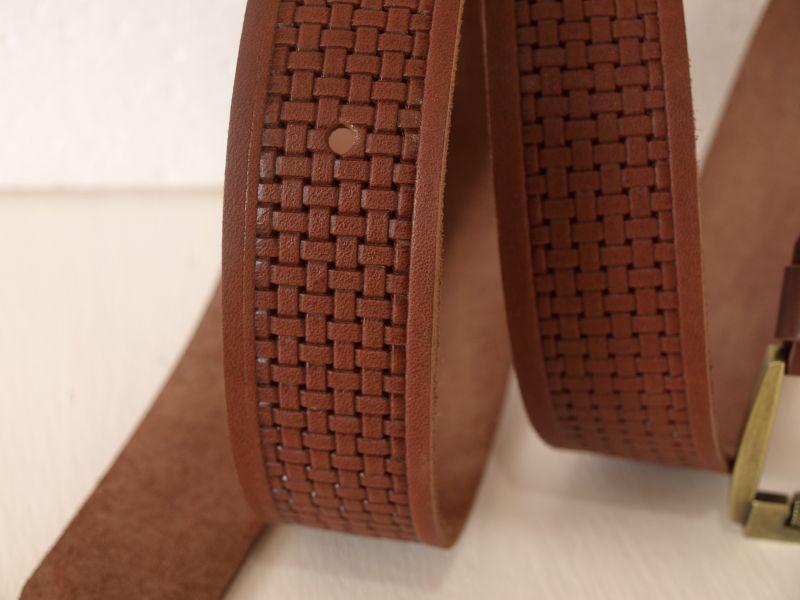 Пояс кожаный венетто Коричневый кожа Менчак Ирина - фото 2
