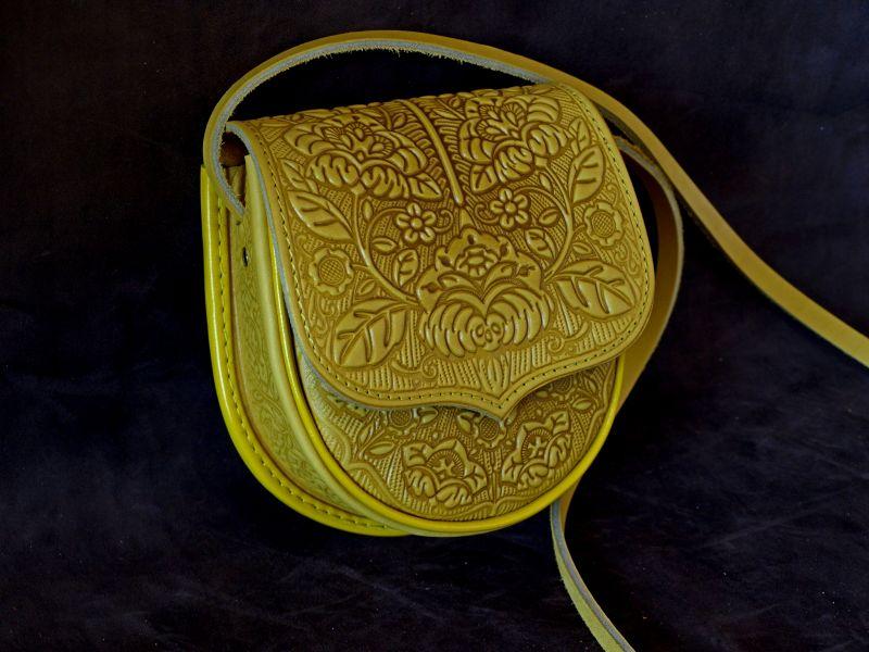Сумка кожаная Петриковка Желтый кожа Менчак Ирина - фото 1