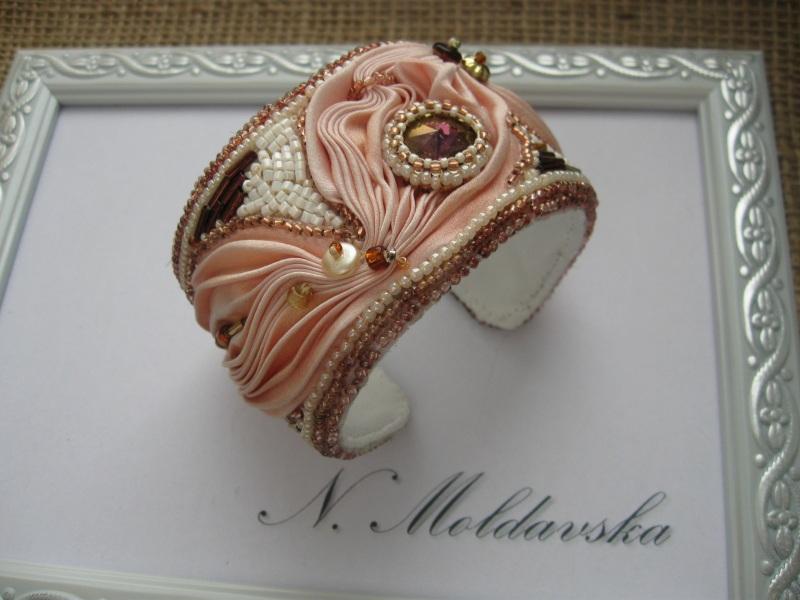 """Комплект """"Розовый фламинго"""" Разноцветный Японская шелковая лента ш Молдавская Наталья - фото 4"""