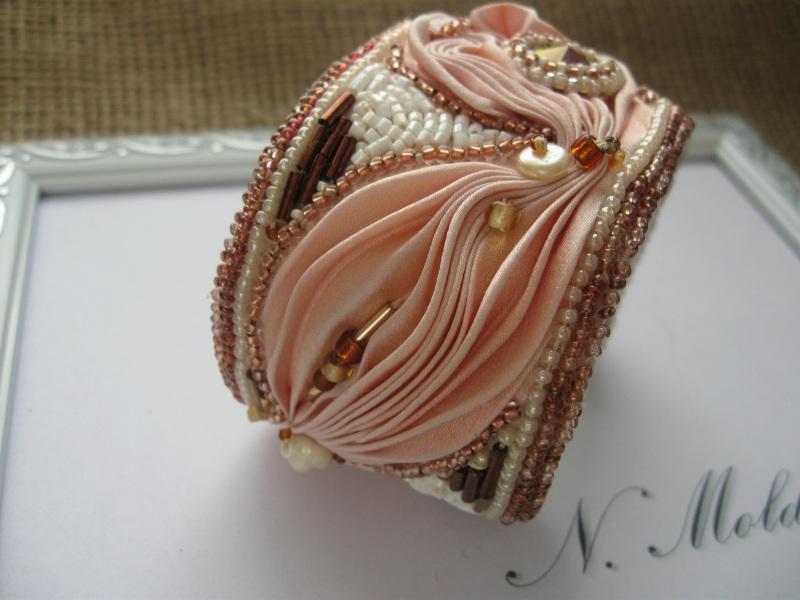 """Комплект """"Розовый фламинго"""" Разноцветный Японская шелковая лента ш Молдавская Наталья - фото 5"""