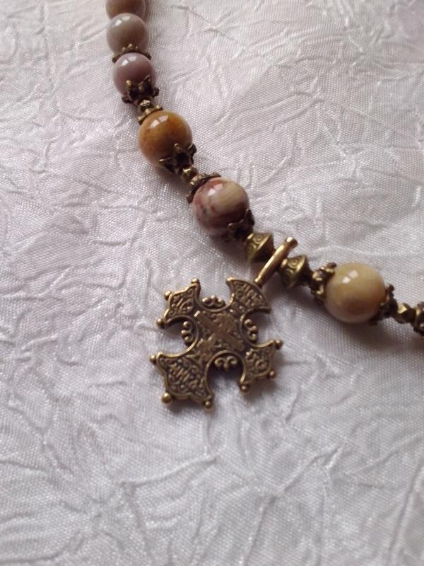 Ожерелье из ископаемого коралла  Натуральный ископаемый ко Михальская Галина - фото 3