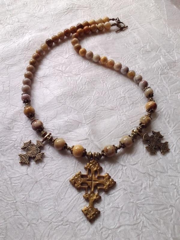 Ожерелье из ископаемого коралла  Натуральный ископаемый ко Михальская Галина - фото 2