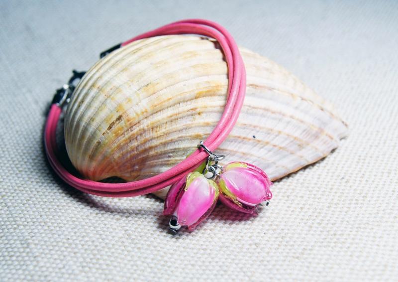 """Браслет """"Зачарований тобою"""" Рожевий - авторський лемпворк - Мусієнко Ангеліна - фото 1"""