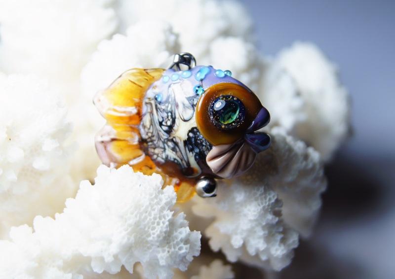 """Кулон авторский """"Рыбка""""  - итальянское стекло - с Мусиенко Ангелина - фото 2"""