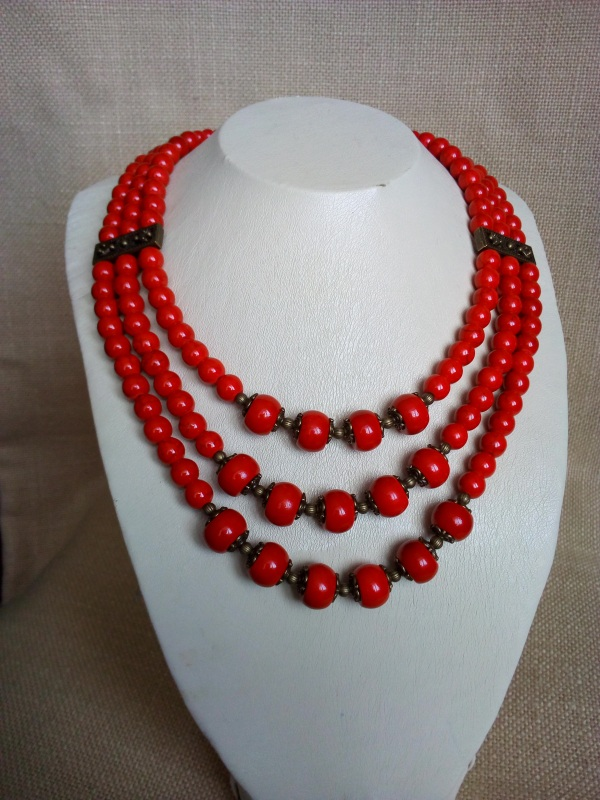 Ожерелье  Коралл прессованный, фурн Миклуха Оксана - фото 2