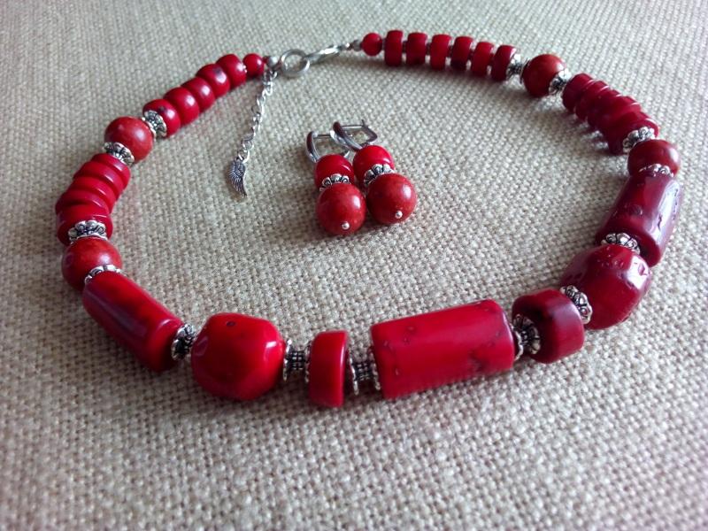 Коралловое ожерелье Красный Коралл натуральный 14мм, Миклуха Оксана - фото 1