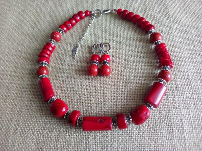 Коралловое ожерелье Красный Коралл натуральный 14мм, Миклуха Оксана - фото 2