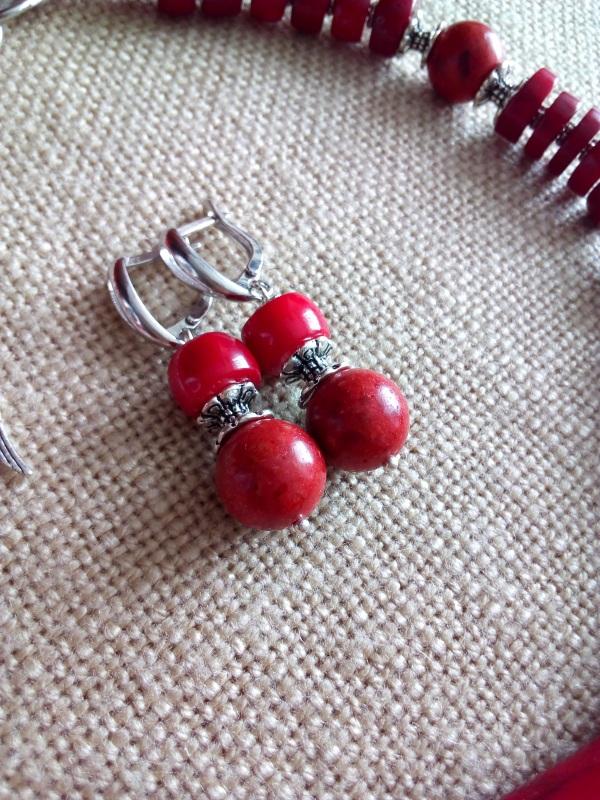 Коралловое ожерелье Красный Коралл натуральный 14мм, Миклуха Оксана - фото 3