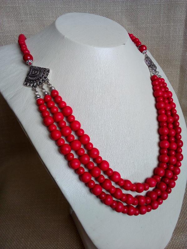 Ожерелье Красный Говлит, фурнитура серебря Миклуха Оксана - фото 2