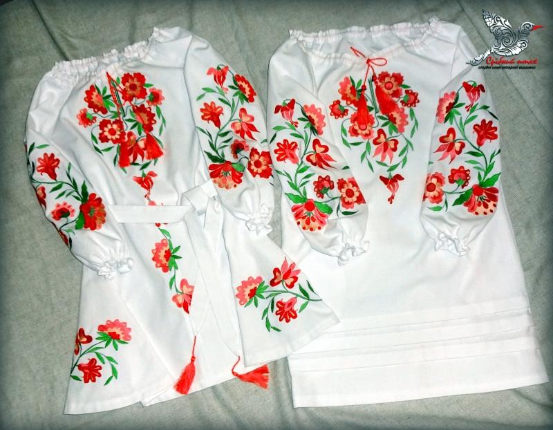"""Платье """"Цветочек"""" Белый белая ткань лён с хлопком Студия вышивки """"Срібний птах"""" - фото 2"""