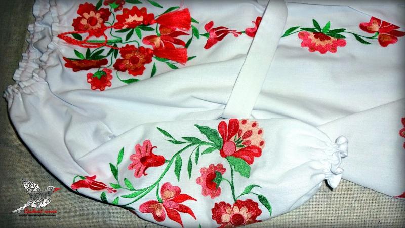 """Платье """"Цветочек"""" Белый белая ткань лён с хлопком Студия вышивки """"Срібний птах"""" - фото 3"""
