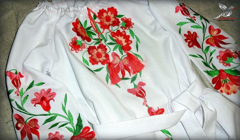 """Платье """"Цветочек"""" Белый белая ткань лён с хлопком Студия вышивки """"Срібний птах"""" - фото 5"""