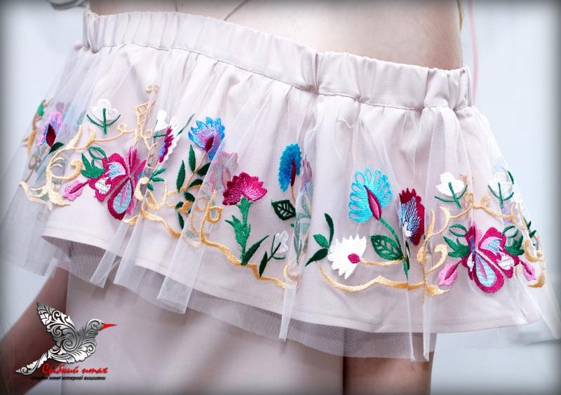 """Платье с воланом """"Ника""""  костюмная ткань, евросетк Студия вышивки """"Срібний птах"""" - фото 5"""
