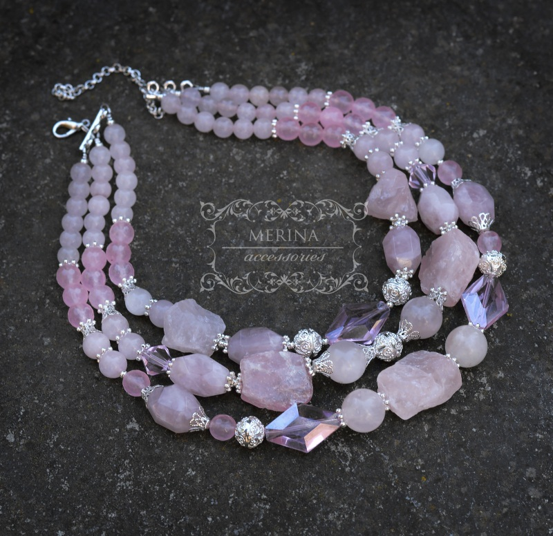 Розовая мечта Розовый Розовый кварц различных ф Негрич Инна - фото 1