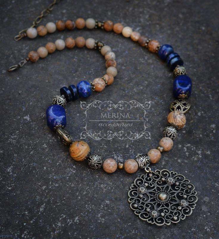 Ожерелье Вдохновение Разноцветный лазурит, яшма Негрич Инна - фото 2