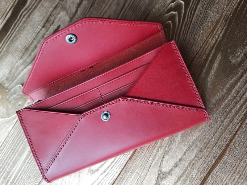 Женский кожаный кошелёк.  Красный Кожа премиумкласса butter Николаев Виталий - фото 8