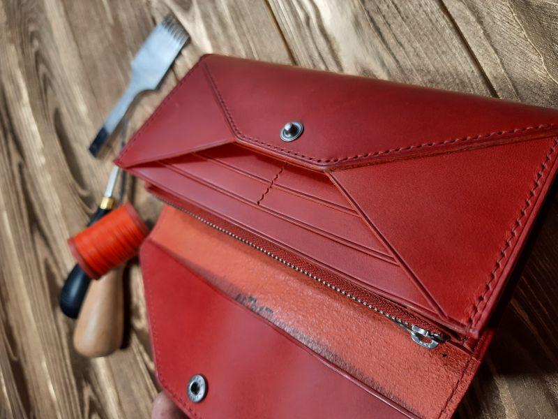 Женский кожаный кошелёк.  Красный Кожа премиумкласса butter Николаев Виталий - фото 5