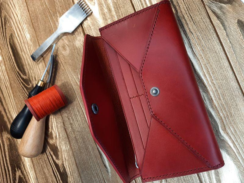 Женский кожаный кошелёк.  Красный Кожа премиумкласса butter Николаев Виталий - фото 7