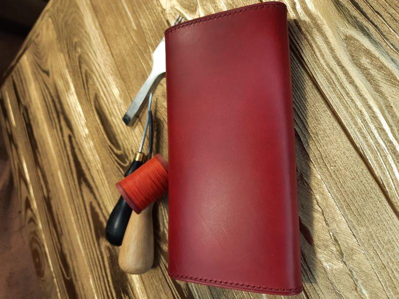 Женский кожаный кошелёк.  Красный Кожа премиумкласса butter Николаев Виталий - фото 4