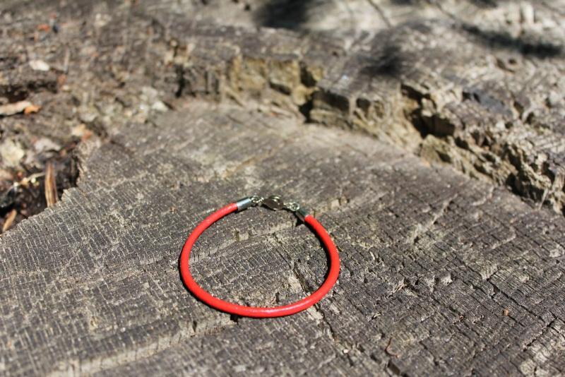 Червоний Червоний Шкіряний шнур, металева ф Новікова Катерина - фото 2