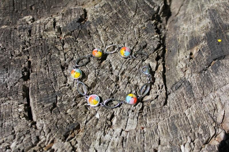 Весенний день Разноцветный Муранское стекло (кабошон Новикова Екатерина - фото 1