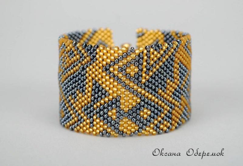Золото инков  Чешский бисер, позолоченн Оберемок Оксана - фото 1