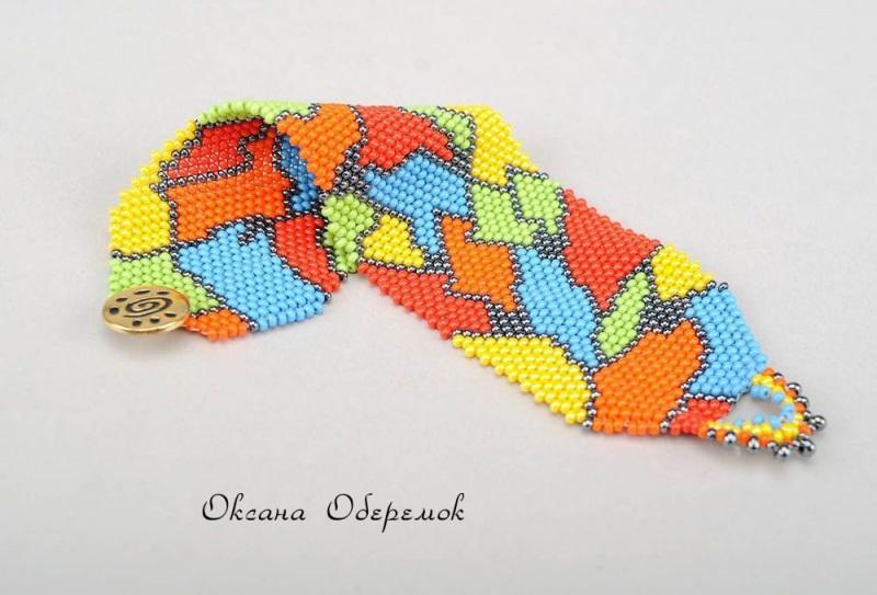 Африка  Чешский бисер Оберемок Оксана - фото 1