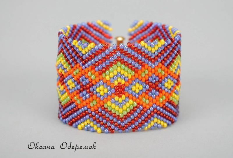 Я люблю Украину!  Чешский бисер, позолоченн Оберемок Оксана - фото 1
