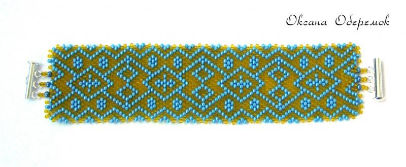 Патриотический  Чешский бисер, посеребрен Оберемок Оксана - фото 7