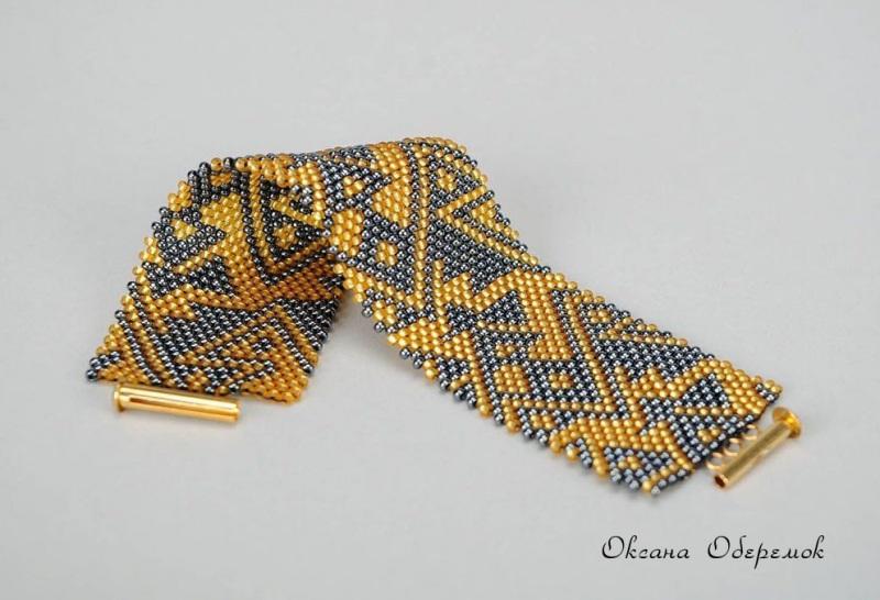 Золото инков  Чешский бисер, позолоченн Оберемок Оксана - фото 4