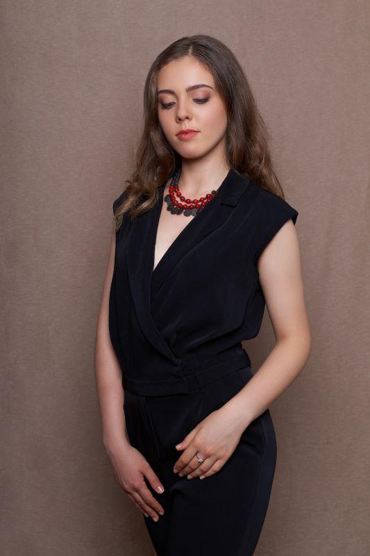 Елизавета  Короткое ожерелье с натур Пилюк Ольга - фото 5