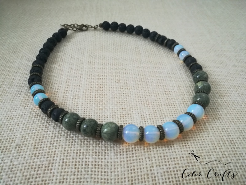Месяц Разноцветный Ожерелье из натурального Пилюк Ольга - фото 1
