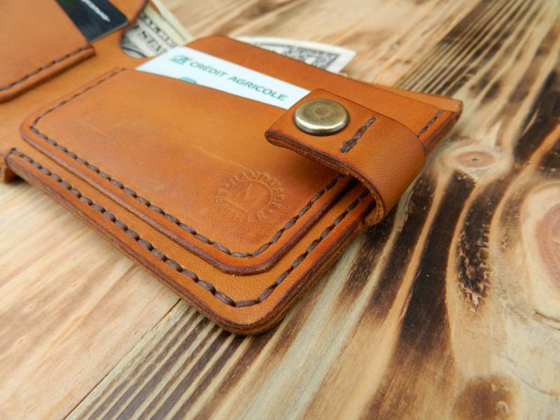 Бумажник для денег и кредитных карт  кожа, натуральная кожа, и Онищенко Виталина - фото 3