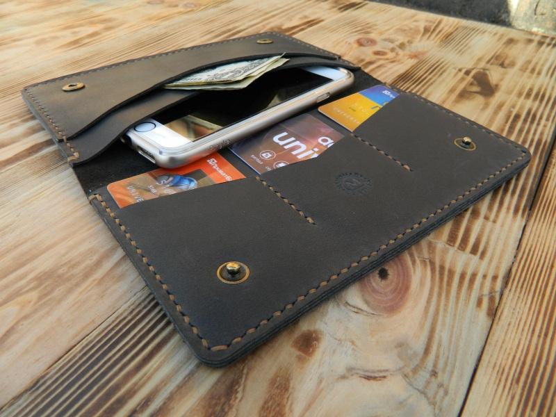 Универсальный чехол кошелек для телефона, документов, денег  кожа, натуральная кожа, и Онищенко Виталина - фото 4