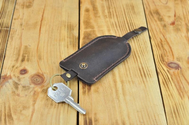 Кожаная ключница, Чехол под ключи  кожа, Натуральная кожа, и Онищенко Виталина - фото 1