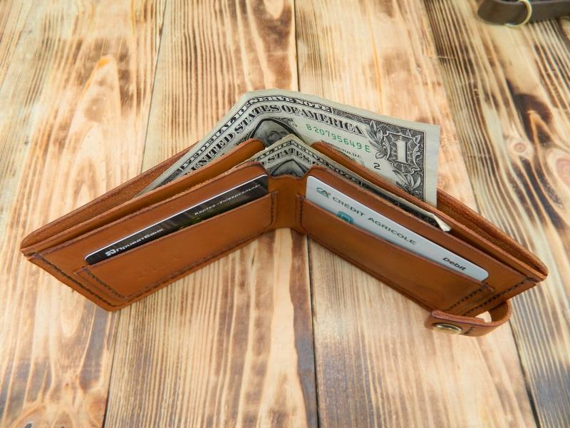 Бумажник для денег и кредитных карт  кожа, натуральная кожа, и Онищенко Виталина - фото 2