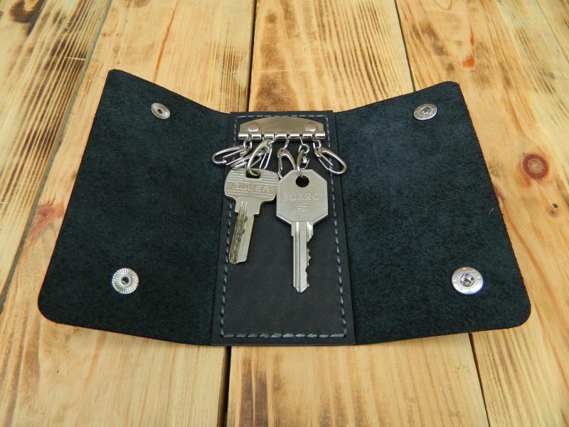 Кожаная карманная ключница, Кожаный футляр для ключей  кожа, натуральная кожа, и Онищенко Виталина - фото 1