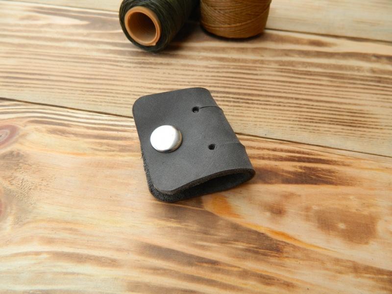 Кожаный держатель для наушников, проводов  кожа, натуральная кожа, и Онищенко Виталина - фото 4