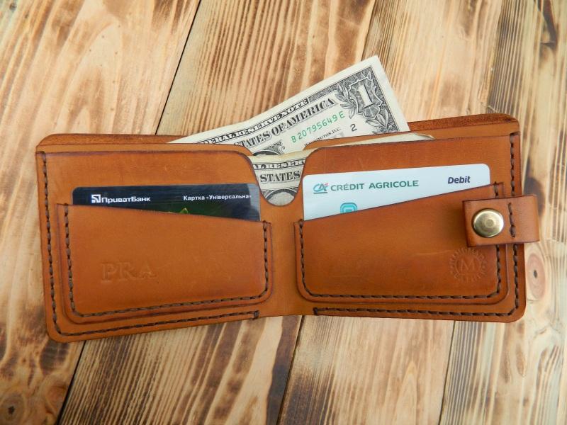 Бумажник для денег и кредитных карт  кожа, натуральная кожа, и Онищенко Виталина - фото 1