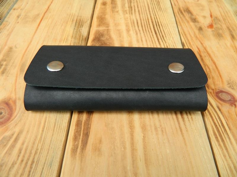 Кожаная карманная ключница, Кожаный футляр для ключей  кожа, натуральная кожа, и Онищенко Виталина - фото 3