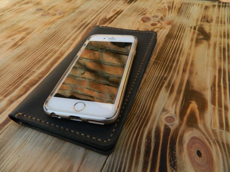 Универсальный чехол кошелек для телефона, документов, денег  кожа, натуральная кожа, и Онищенко Виталина - фото 5