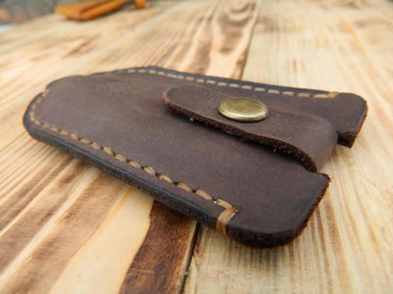 Кожаный чехол для ключа, Карманная ключница, Футляр для ключей  кожа, Натуральная кожа, и Онищенко Виталина - фото 5