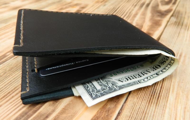 Мужской кожаный бумажник для денег и кредитных карт Черный кожа, натуральная кожа, и Онищенко Виталина - фото 3