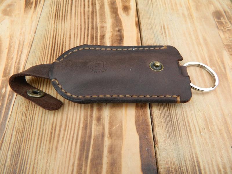 Кожаный чехол для ключа, Карманная ключница, Футляр для ключей  кожа, Натуральная кожа, и Онищенко Виталина - фото 1