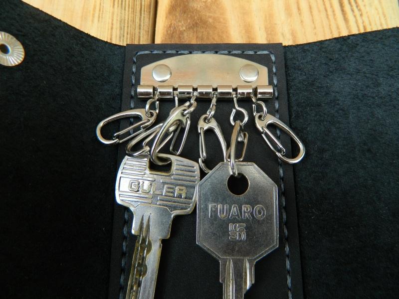 Кожаная карманная ключница, Кожаный футляр для ключей  кожа, натуральная кожа, и Онищенко Виталина - фото 4