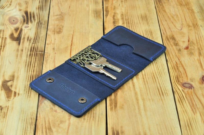 Кожаный кошелек для ключей и кредиток  кожа, натуральная кожа, и Онищенко Виталина - фото 5