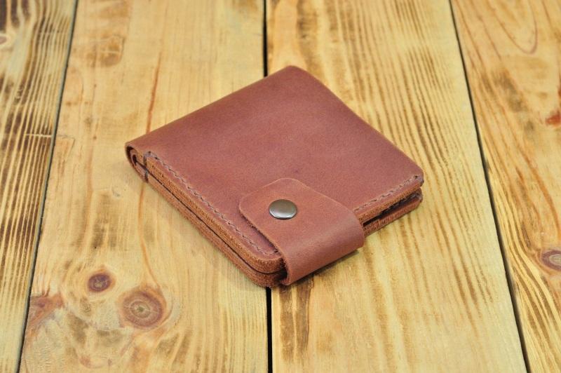 Бумажник для денег кредиток Коричневый кожа, натуральная кожа, и Онищенко Виталина - фото 5