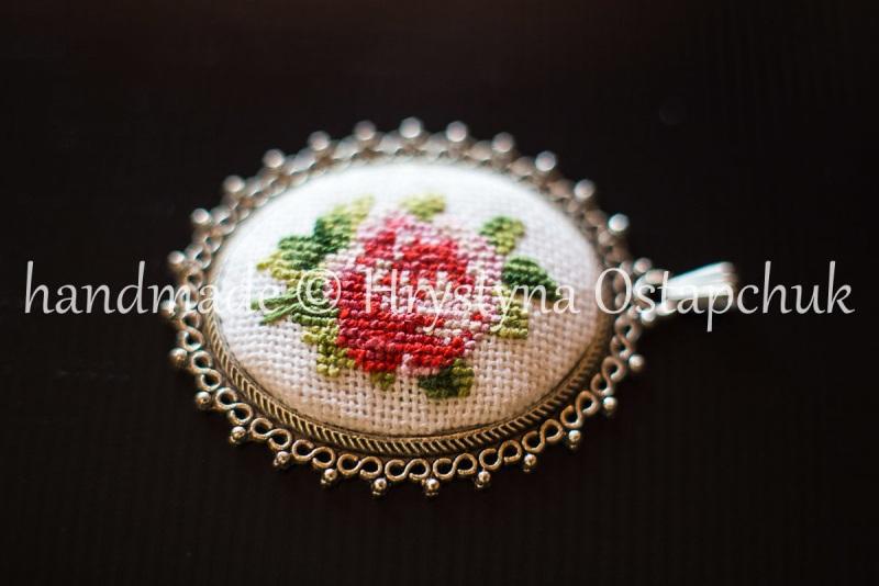 Роза  посеребренный кабошон Остапчук Христина - фото 1
