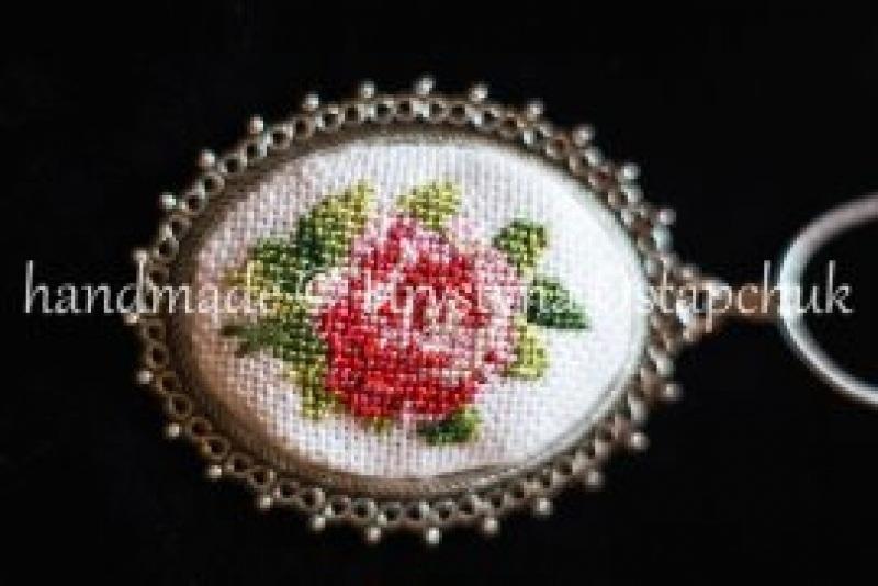 Роза  посеребренный кабошон Остапчук Христина - фото 2