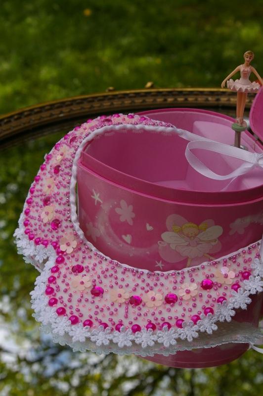 """""""Маленькая модница"""" Розовый белый фетр, кружево, приш Палий Наталья - фото 1"""